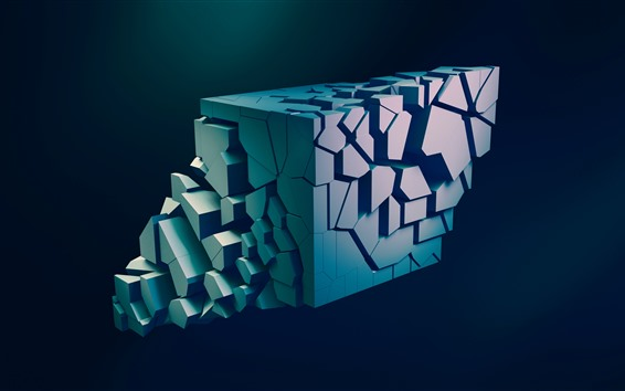 Wallpaper 3D figure, abstraction, black background