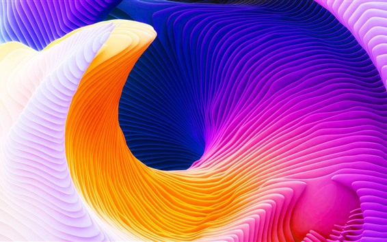 Wallpaper Abstract curve, colorful colors, art picture