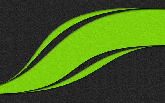 Обои Абстрактный зеленый лист, креативный дизайн