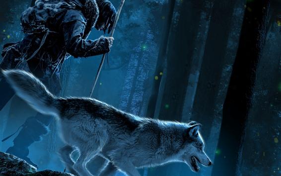 Обои Альфа, лес, ночь