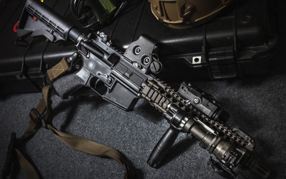 Papéis de Parede Rifle de assalto, equipamento militar, arma