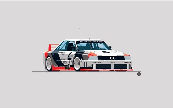 Papéis de Parede Carro de corrida de Audi, design de arte
