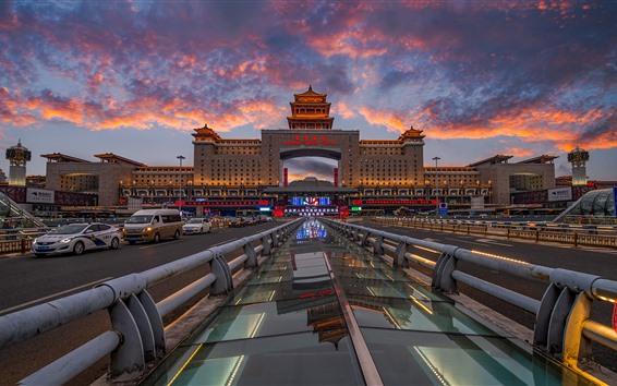 Обои Железнодорожный вокзал Пекина, Китай