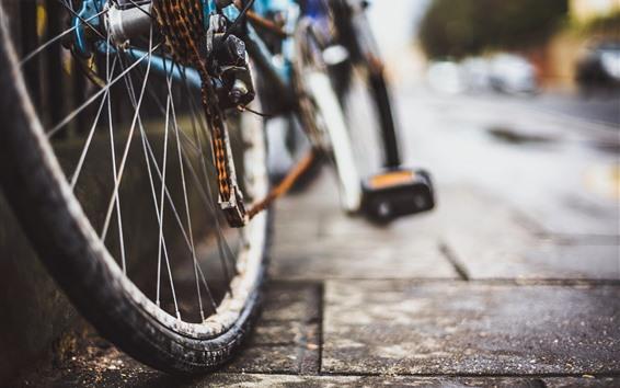 壁紙 バイク、車輪、チェーン、さびた