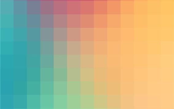 Fond d'écran Couleurs bleues et orange, cubes abstraits