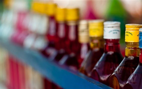 Fondos de pantalla Botellas, bebidas, brumoso