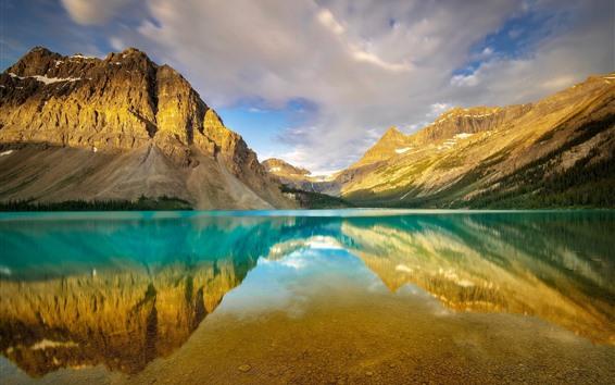 Обои Канада, Альберта, Национальный парк Банф, горы, лук-озеро, отражение воды