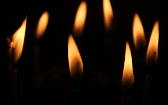 Wallpaper Candles, flame, black background