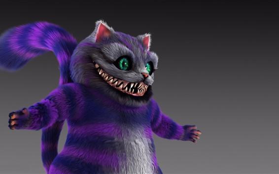 Fondos de pantalla Gato de Cheshire, ojos verdes, imagen de arte