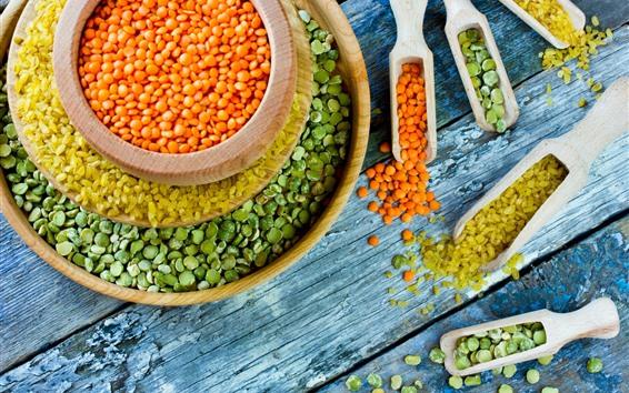 Wallpaper Colorful beans, lentils, bowl