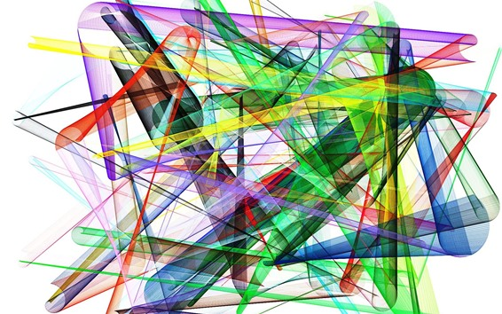 Fond d'écran Formes colorées, lignes, image abstraite, fond blanc