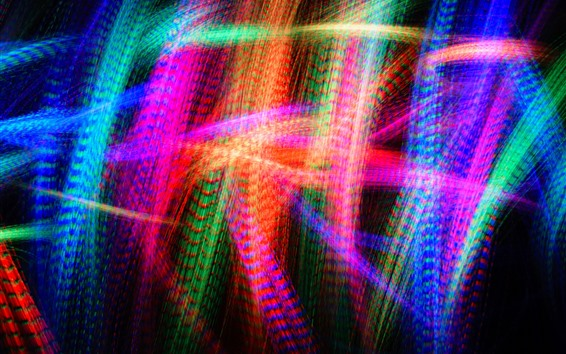 Wallpaper Colorful light lines, abstract picture