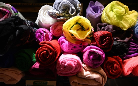 Wallpaper Colorful towels, fabric