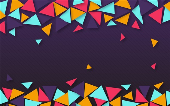Wallpaper Colorful triangle, geometric, abstract