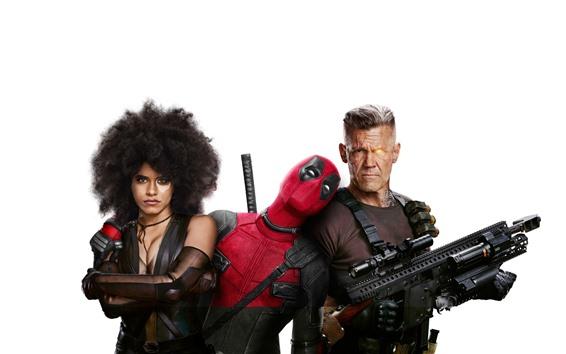 Fondos de pantalla Deadpool 2, fondo blanco