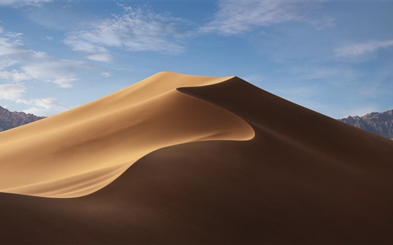 Wallpaper Desert, dune, blue sky