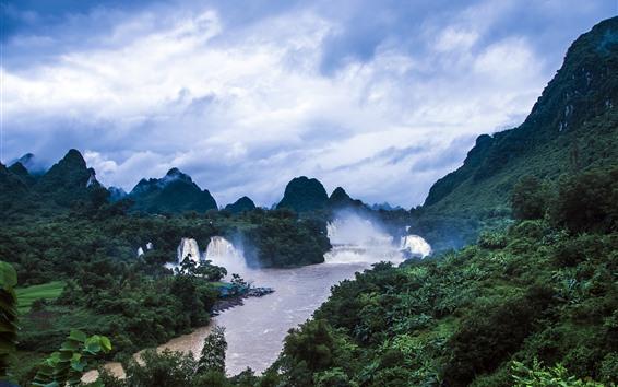 Wallpaper Detian Waterfall, Guangxi, China