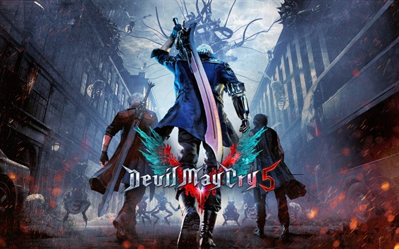 Wallpaper Devil May Cry 5, video game