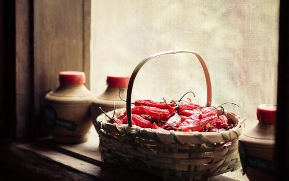 Обои Сухие красные перцы