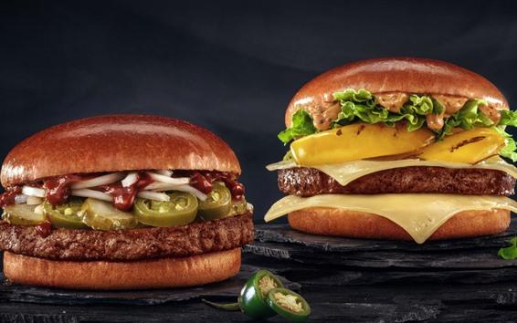Wallpaper Fast food, hamburger