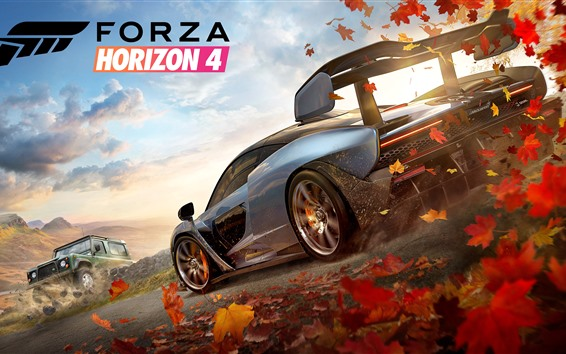 Wallpaper Forza Horizon 4, race cars, speed