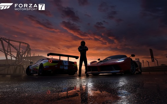Wallpaper Forza Motorsport 7, supercars, dusk