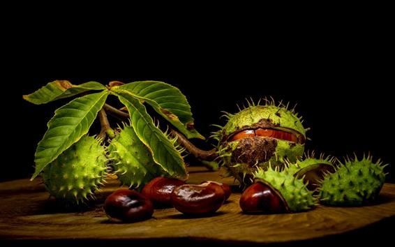 Hintergrundbilder Früchte, Kastanien, Nüsse