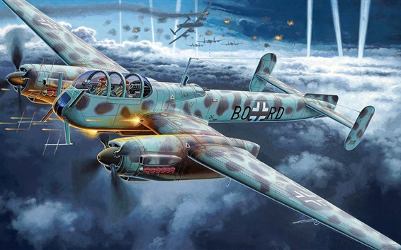 Wallpaper German reconnaissance aircraft