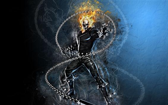 Fond d'écran Ghost Rider, Marvel, DC BD, photo d'art