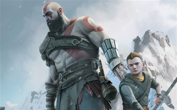 Wallpaper God of War 4, PS4 game