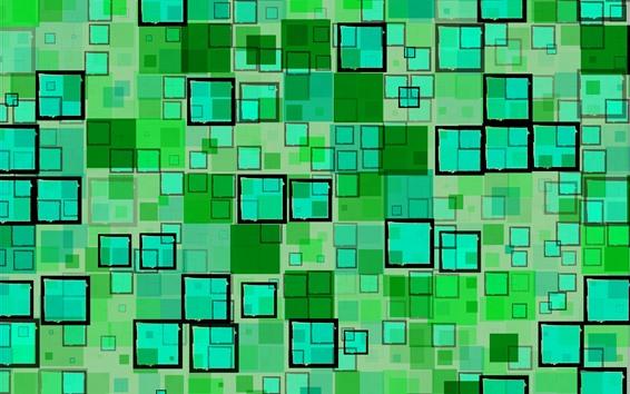Papéis de Parede Quadrados verdes, geométricos, textura de fundo