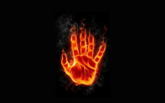 Fondos de pantalla Mano, fuego, llama, diseño creativo