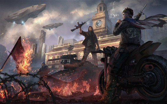 Wallpaper Homefront: The Revolution, game, ruins