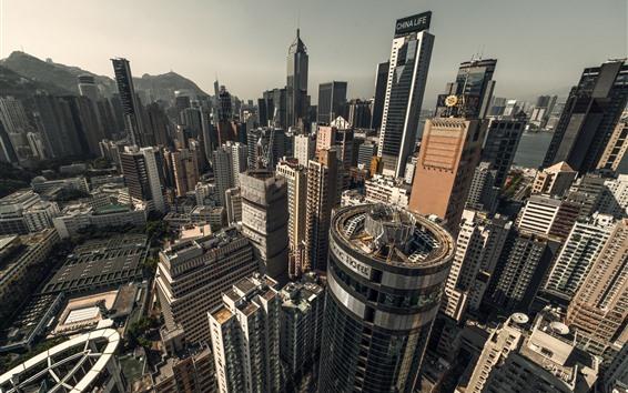 Wallpaper Hong Kong, cityscape, skyscrapers