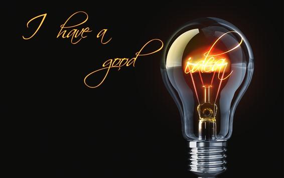 Wallpaper Light bulb, lighting, black background