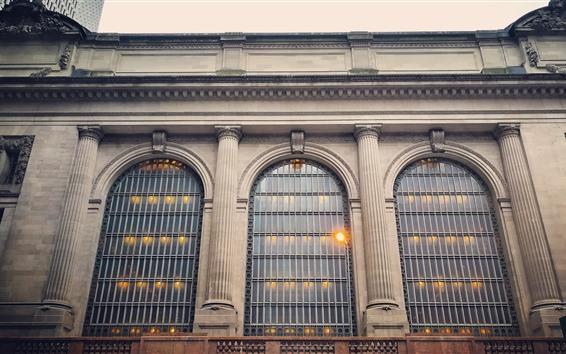 壁紙 ニューヨーク、建物、窓、アメリカ