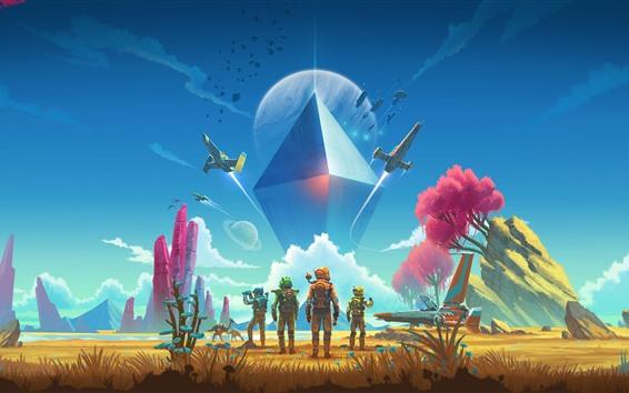 Wallpaper No Man's Sky, PS4 game