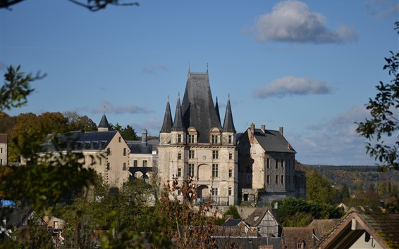 Fond d'écran Normandie, château, france