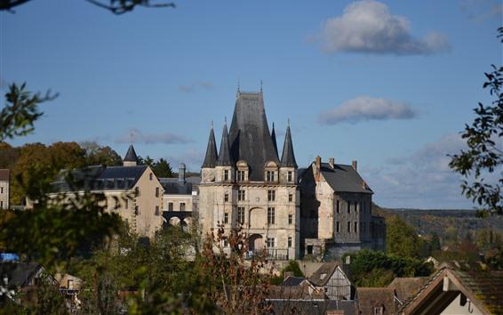 Wallpaper Normandy, castle, France
