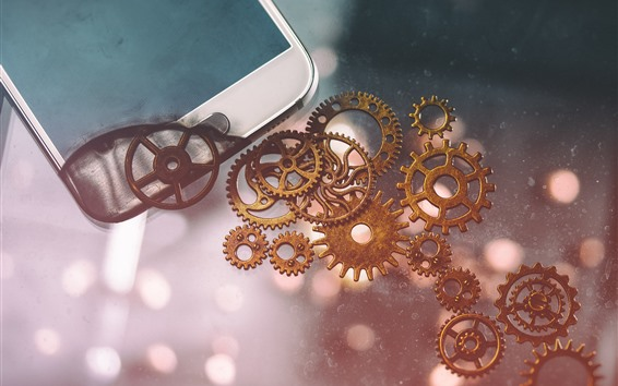 Wallpaper Phone and gears