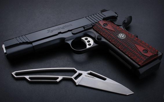 Papéis de Parede Remington M1911 pistola, arma, faca, arma