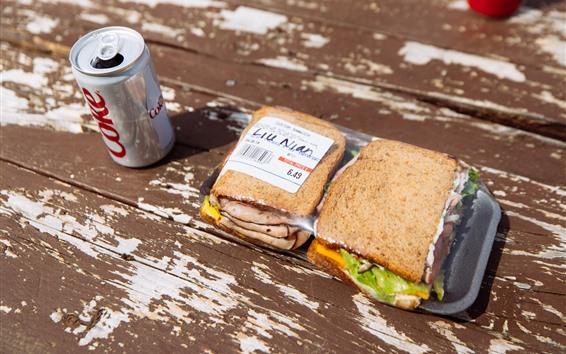 Papéis de Parede Sanduíche, fast food, bebidas