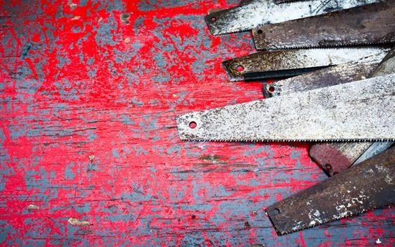 Papéis de Parede Serras, ferrugem, ferramentas