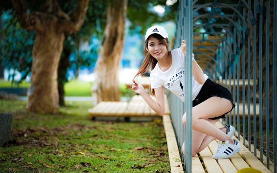 Wallpaper Smile Asian girl, channel