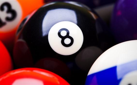 Wallpaper Snooker billiards, colorful balls