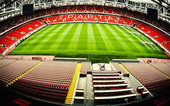 Wallpaper Spartak Stadium, football, meadow, Moscow, Russia