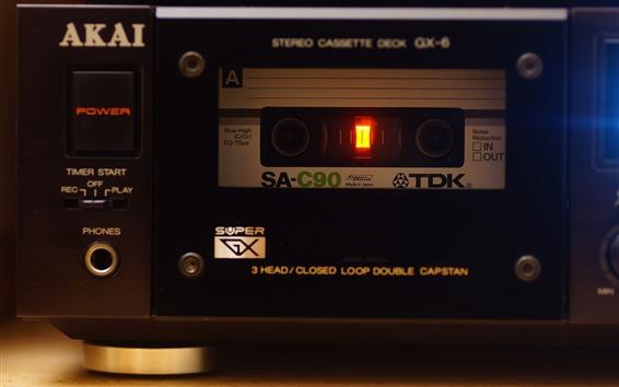 Fond d'écran Lecteur de cassette stéréo