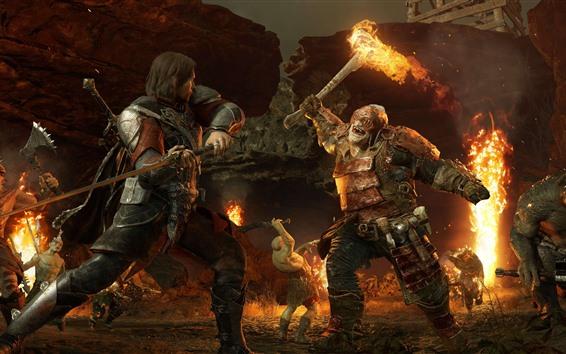 배경 화면 반지의 제왕, 전투, 괴물, PC 게임