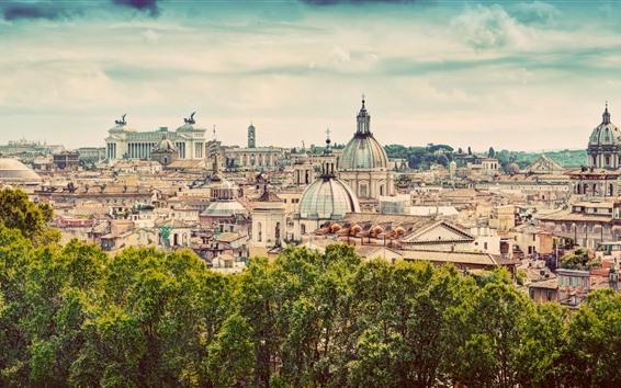 Fond d'écran Voyage à Rome, Italie, Europe, vue sur la ville
