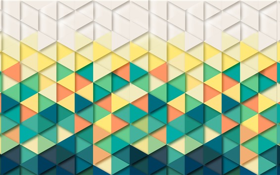 Wallpaper Triangles, geometry, abstract background